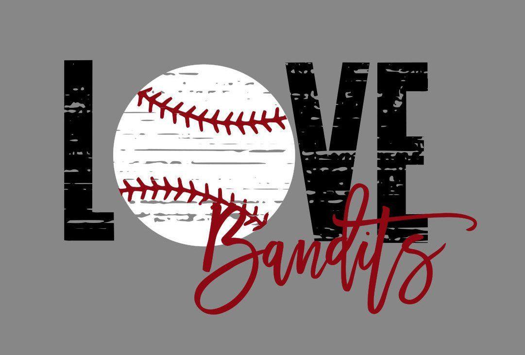 Download Love Bandits Distressed Baseball SVG   Baseball svg ...