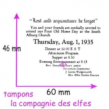 Exclusivité web !  tampon texte vintage - nm
