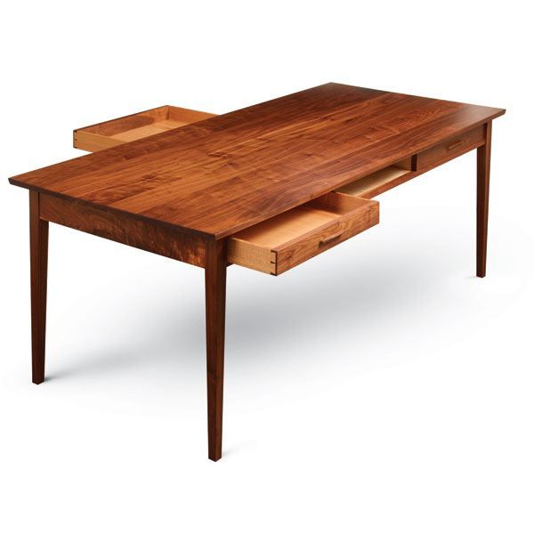 Fine Woodworking Dining Table With Two-Way Drawers