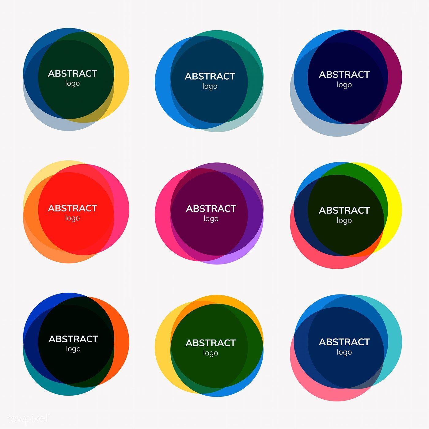 Download premium vector of Set of abstract badge designs