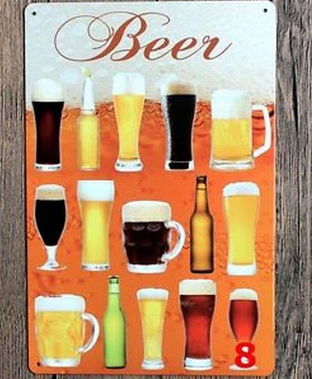 Bar Beer Mugs metal wall art sign