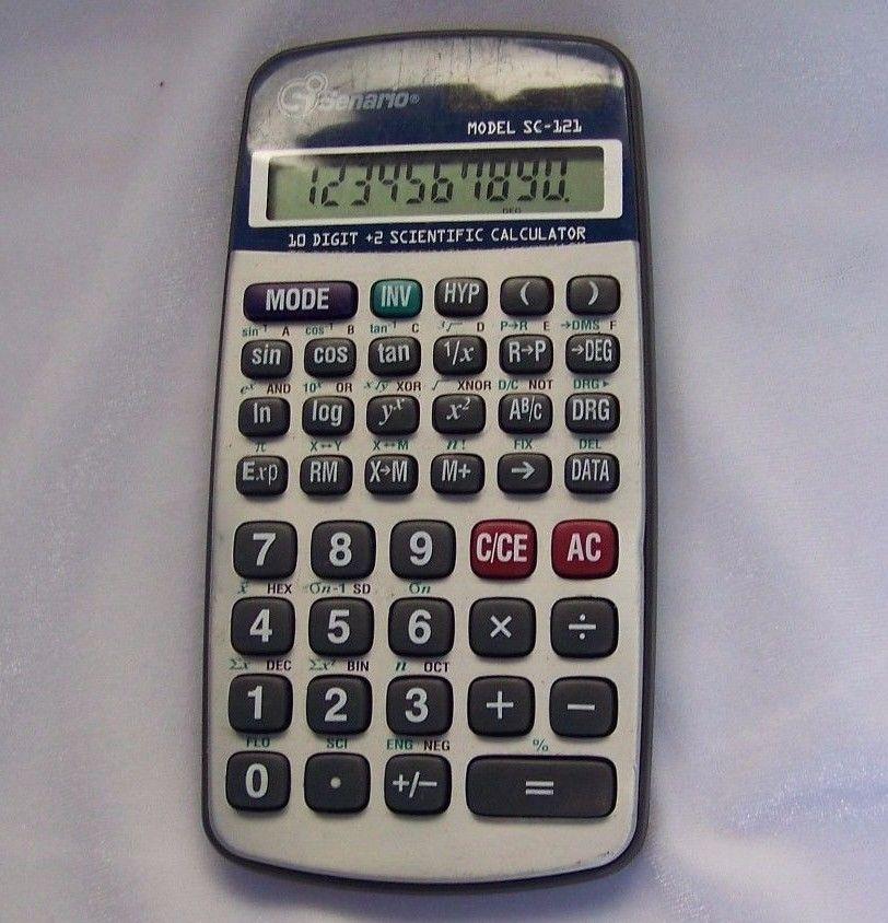 Senario Sc 121 Solar Scientific Calculator 10 Digit Algebra Senario Scientific Calculators Calculator 10 Things
