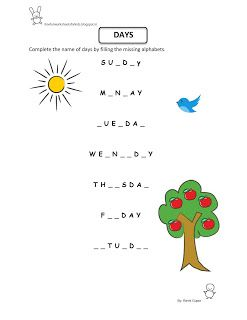 Free fun worksheets for kids printable worksheet evs weekdays also rh pinterest