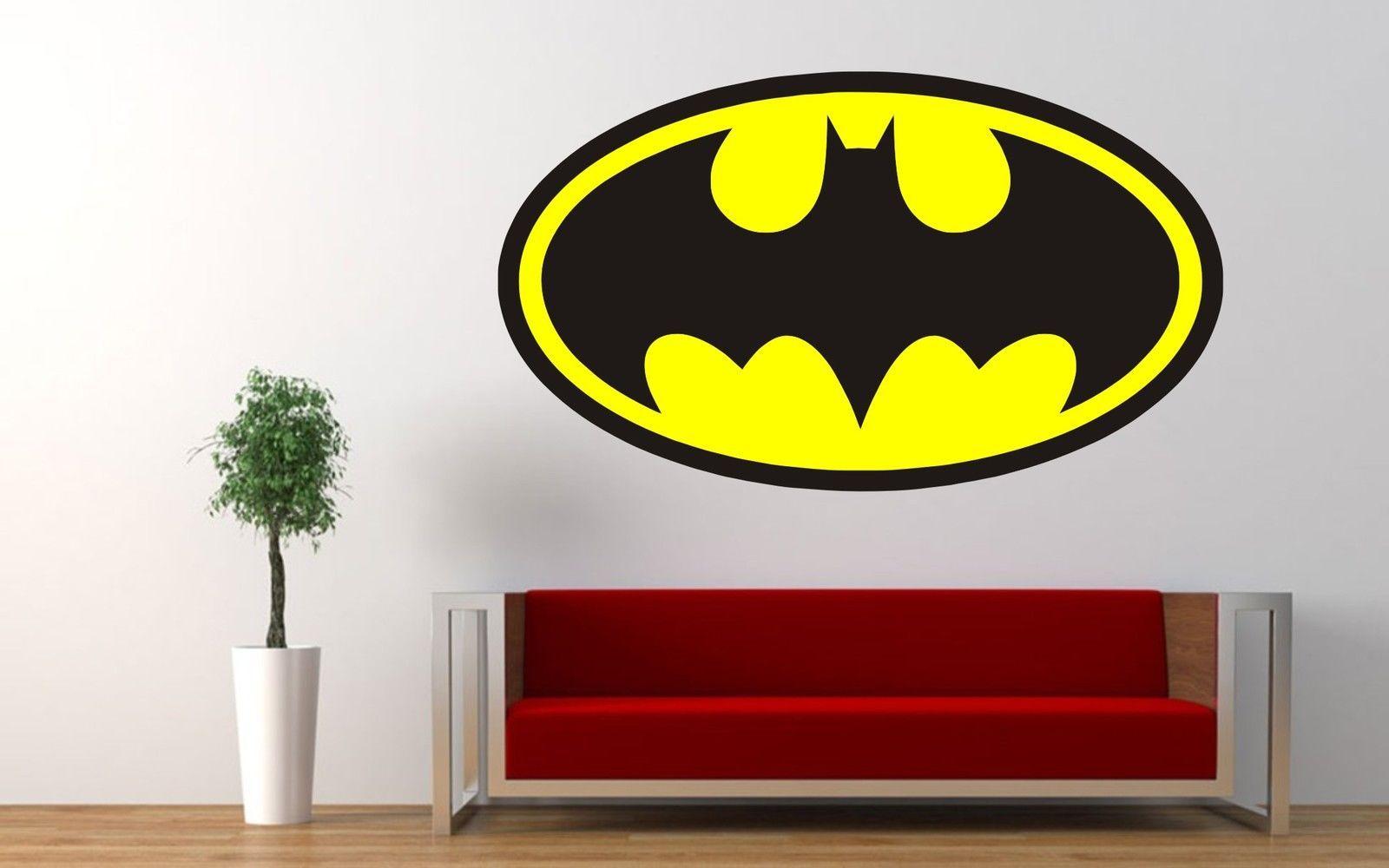 Graphy Bedroom Batman Logo Colour Superhero Wall Car Sticker Decal Art Retro