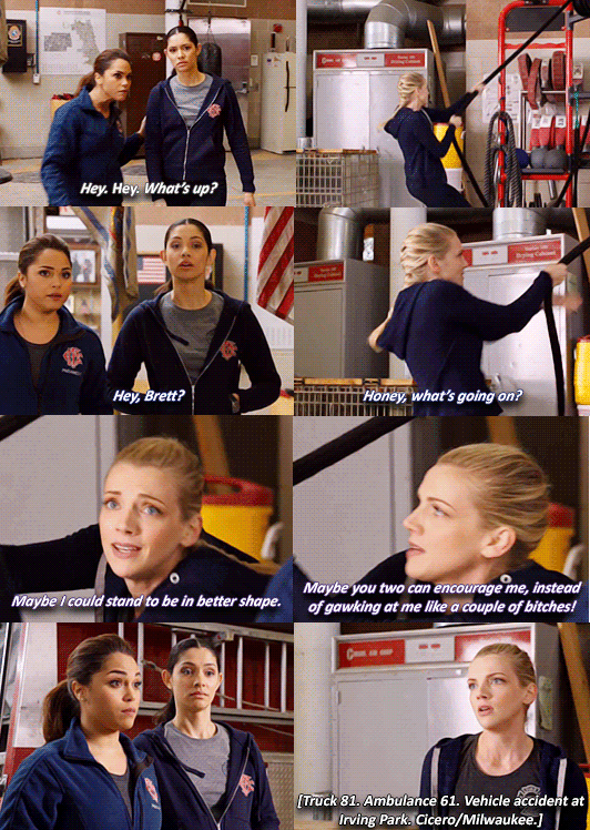 Gabby Dawson, Stella Kidd, and Sylvie Brett | Chicago Fire