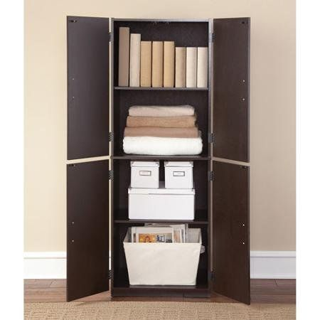 a054d2168c0e Storage Cabinet Cinnamon Cherry Spacious Ample Storage for Kitchen  Accessories and Pantry Items Behind Four Doors Ergonomic Door Handles for EasyGrip  Access ...