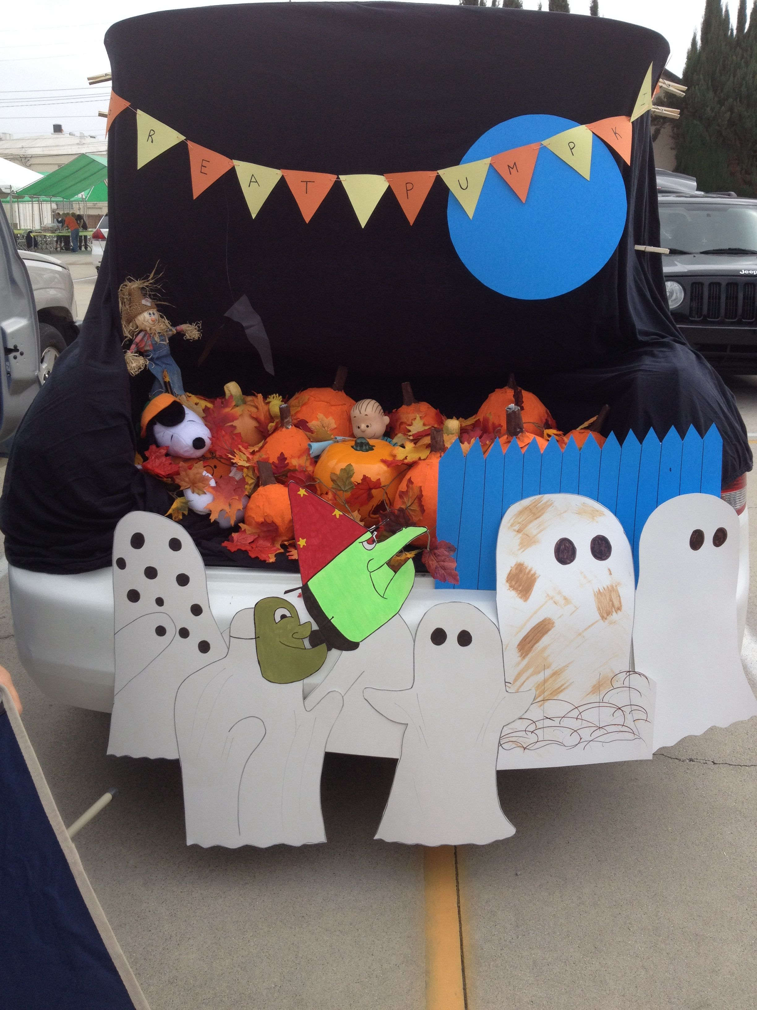 Its The Great Pumpkin Charlie Brown Trunk Or Treat Snoopy