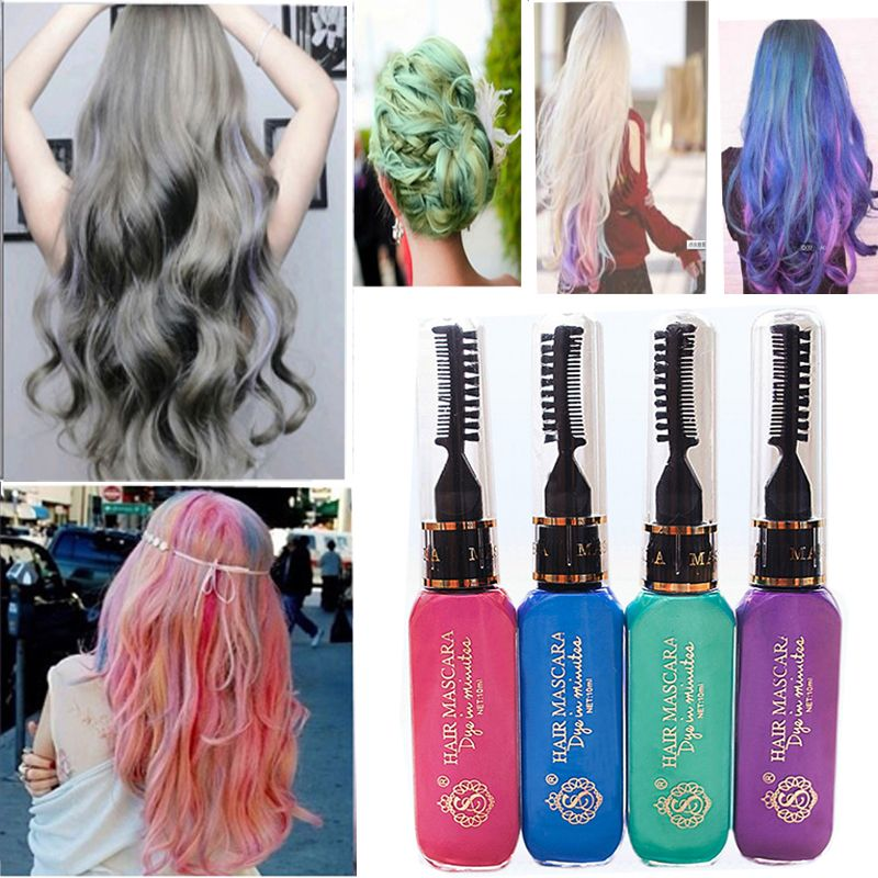 Marvelous Where Can I Buy Hair Spray Paint Part - 8: Wholesale Hot New 10 Colors Gray Hair Color Professional Highlights Streaks  Temporary Hair Color Spray Blue