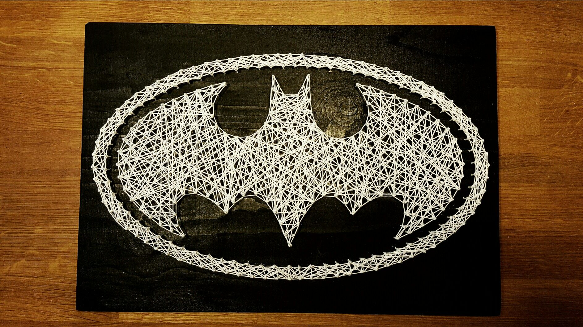 Diy Batman string art | DIY | Pinterest | Fadenbilder, Nagelbilder ...