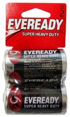 Eveready 1250 2d Super Heavy Duty Batteries D Size Battery 2 Pack 1 00 0 80 Wholesale At Www Batteriesandbutter Com Batteries 9 Volt Battery Heavy Duty