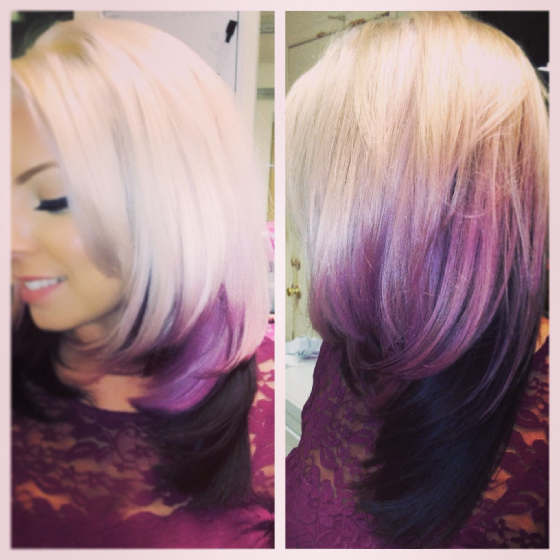Violet hair. I would totally do this!