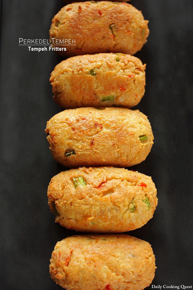 Perkedel Tempeh Tempeh Fritters Makanan Vegetarian Resep Masakan Resep Makanan