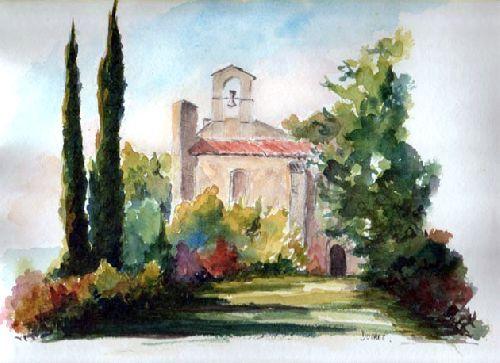 L Abbaye St Pierre Des Canons 13 Peintures In 2019