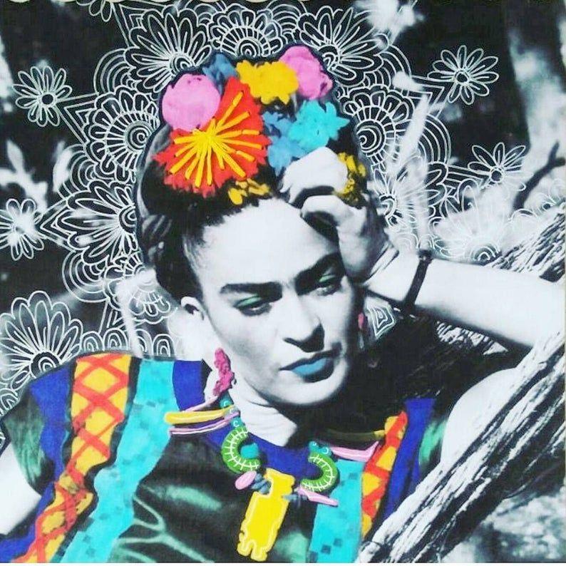 DIGITAL FILE Frida Kahlo Pop Art Mexicana Collage