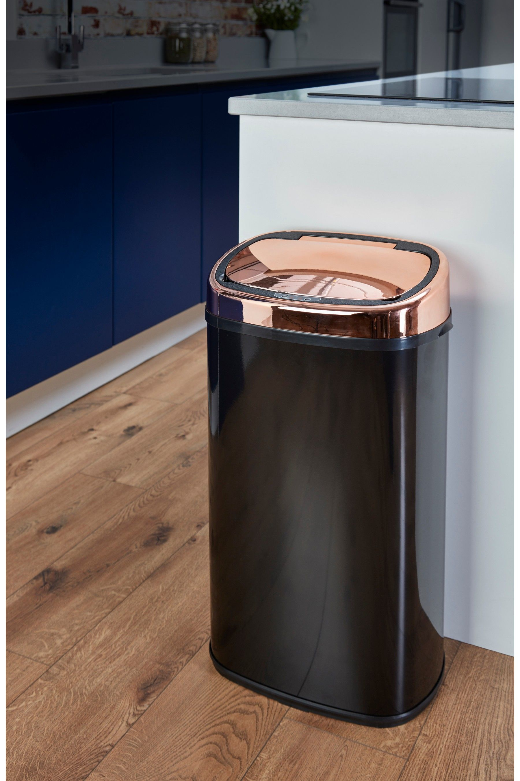 Tower Sensor Lid 58L Bin in 2020 Copper kitchen decor