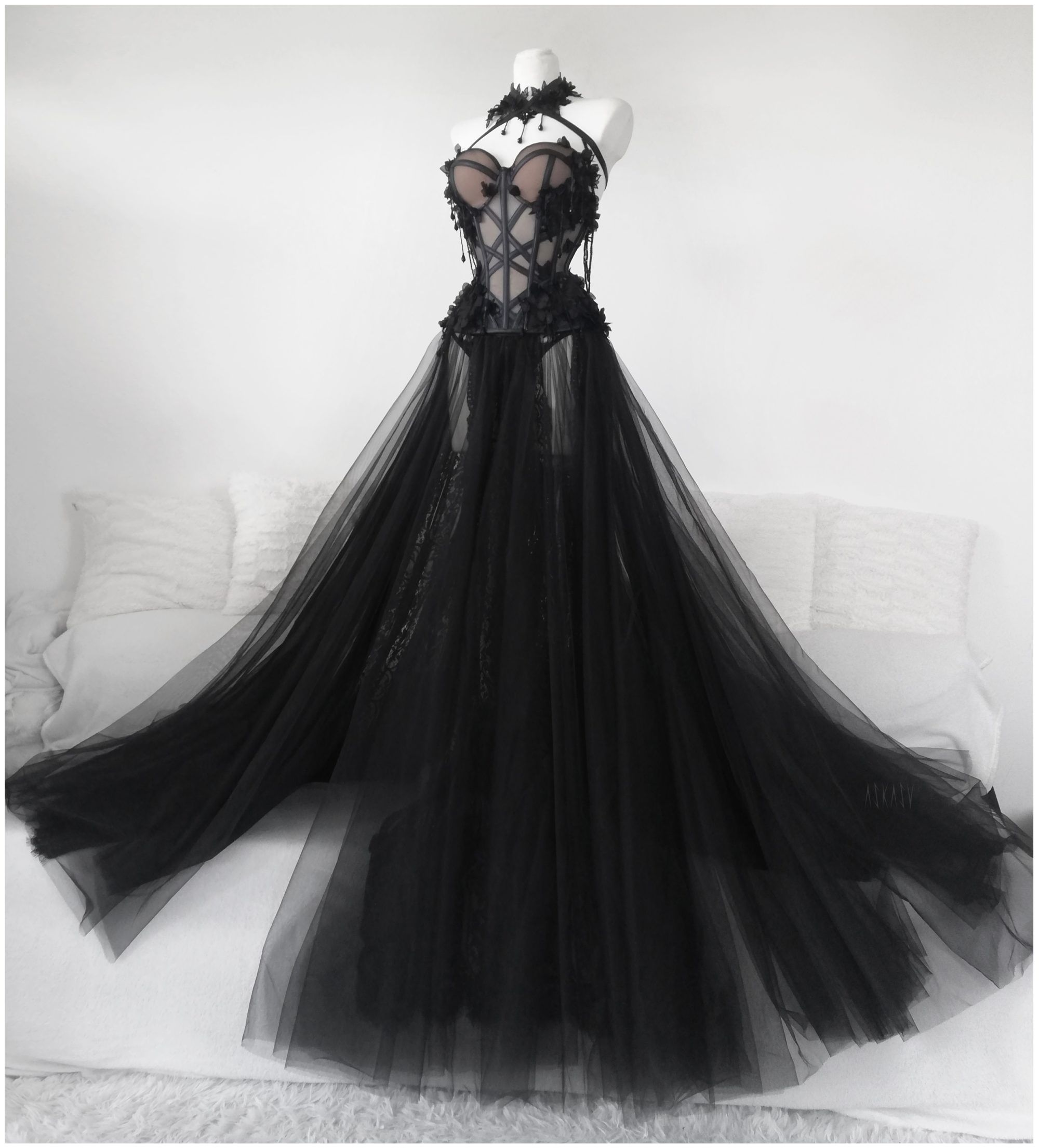Lithium Fume Corset Gown Askasu Fairytale Dress Ball Dresses Fantasy Gowns [ 2209 x 2000 Pixel ]