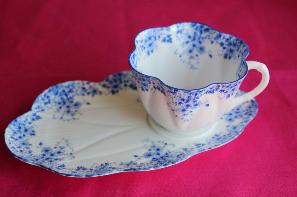 Shelley Dainty Blue Snack Set