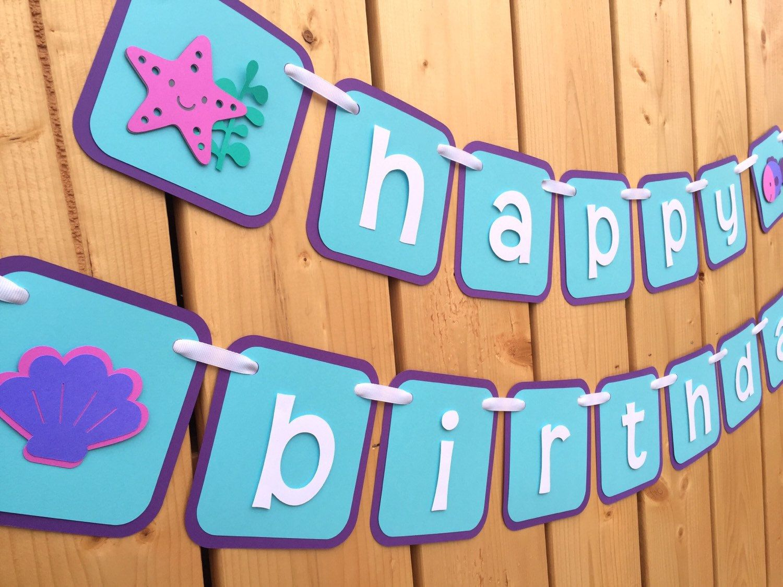 custom under the sea happy birthday banner banner birthday