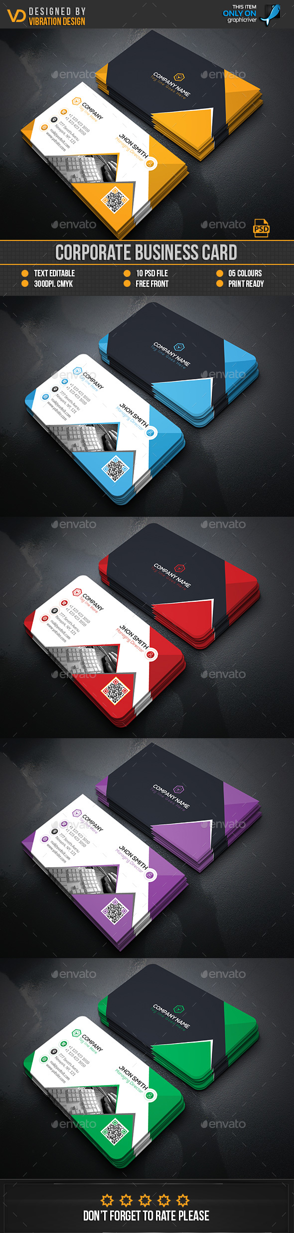 Corporate Business Card Template PSD. Download here: https://graphicriver.net/item/corporate-business-card/17409416?ref=ksioks