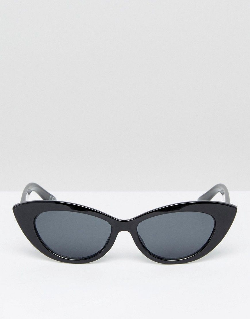 8f68b0172b ASOS Small Pointy Cat Eye Sunglasses - Black
