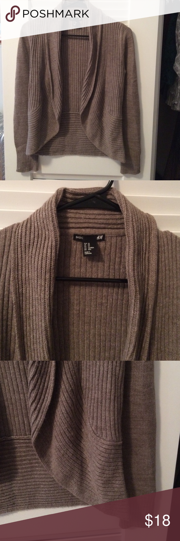 Brown open front cardigan | D, Cardigans and Brown