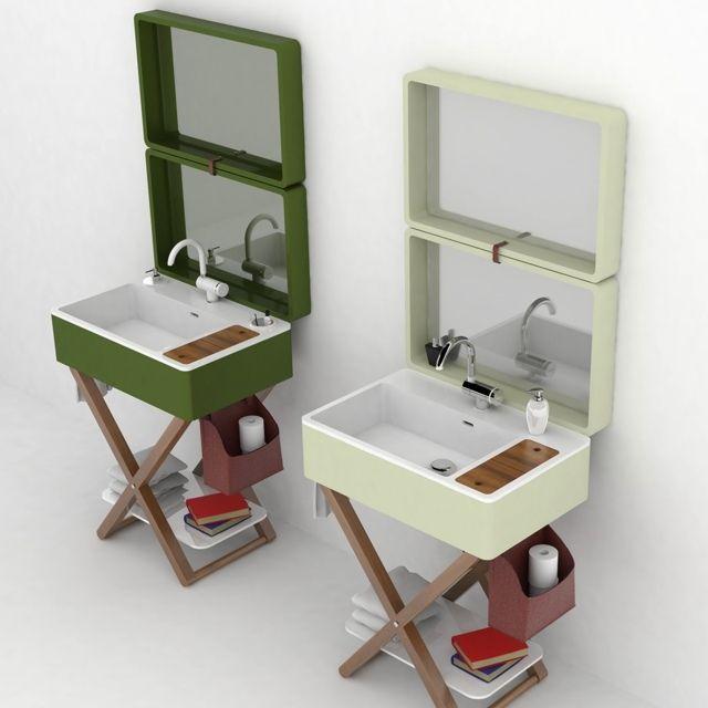 Deux mod¨les meuble vasque salle de bain Olympiaceramica