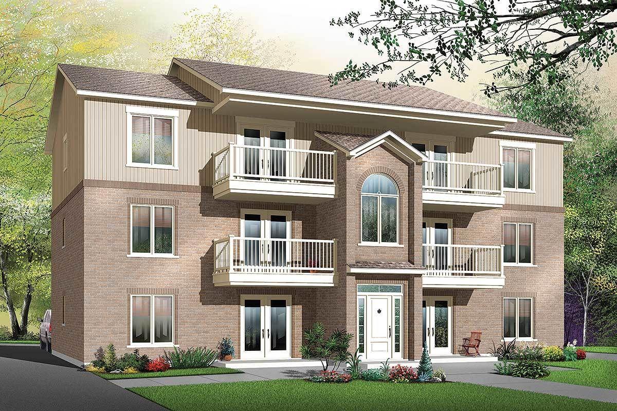 Plan 21603DR: 6-Unit Modern Multi-Family Home Plan in 2020 ...