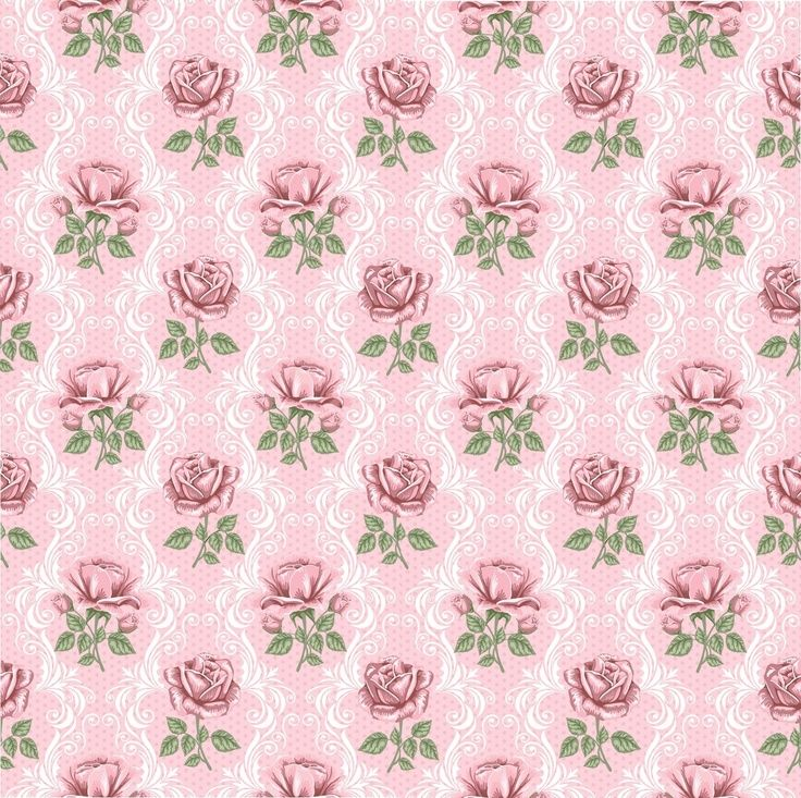 Roses On Pink BackgroundsVintage