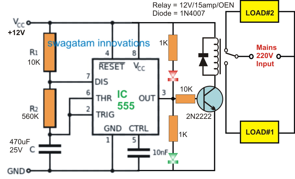 In This Post We Learn How To Make A Simple Ic 555 Based