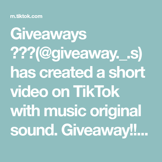 Giveaways Giveaway S Has Created A Short Video On Tiktok With Music Original Sound Giveaway Foryou The Originals Vampire Diaries Seasons Music