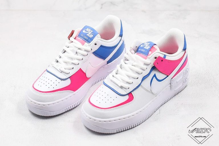 WMNS Nike Air Force 1 Shadow Cotton Candy White Pink Blue