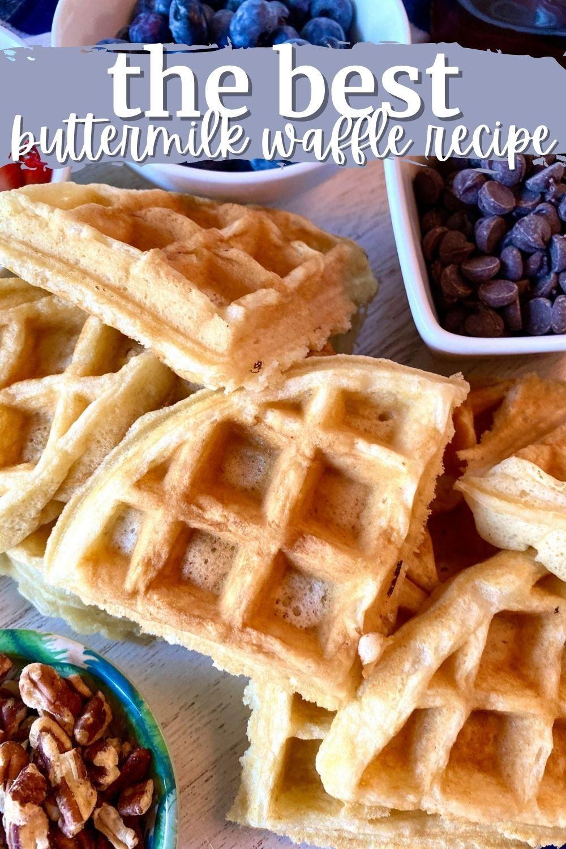 The Best Buttermilk Waffle Recipe In 2020 Buttermilk Waffles Recipe Waffle Recipes Waffles