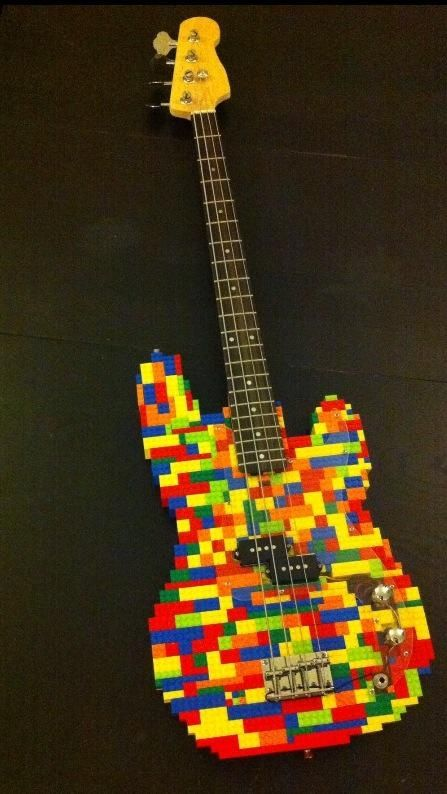 Fully Functional Lego Bass Musical Instruments That I