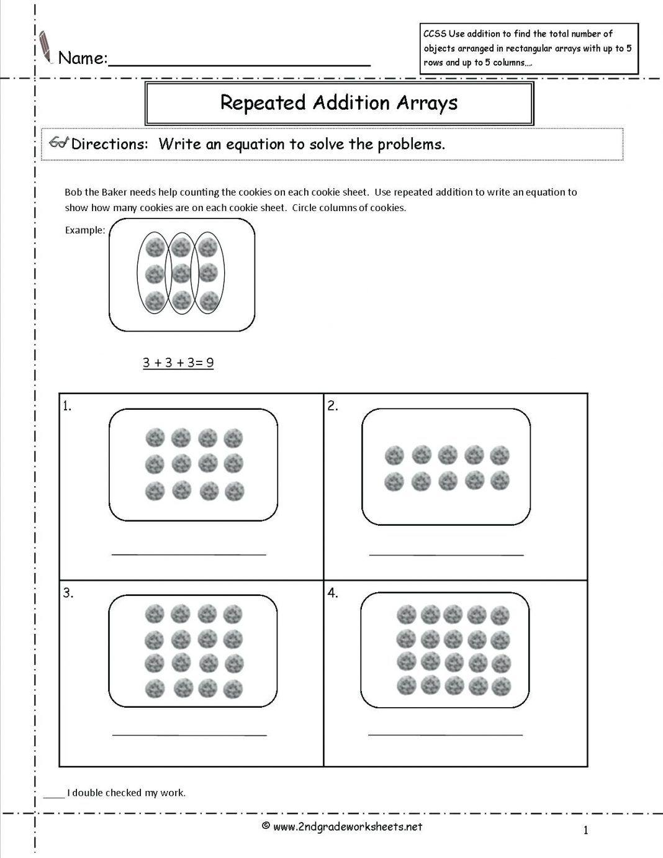 40 Innovative Second Grade Math Worksheets Design Ideas Bacamajalah In 2020 Array Worksheets Common Core Math Worksheets Printable Math Worksheets