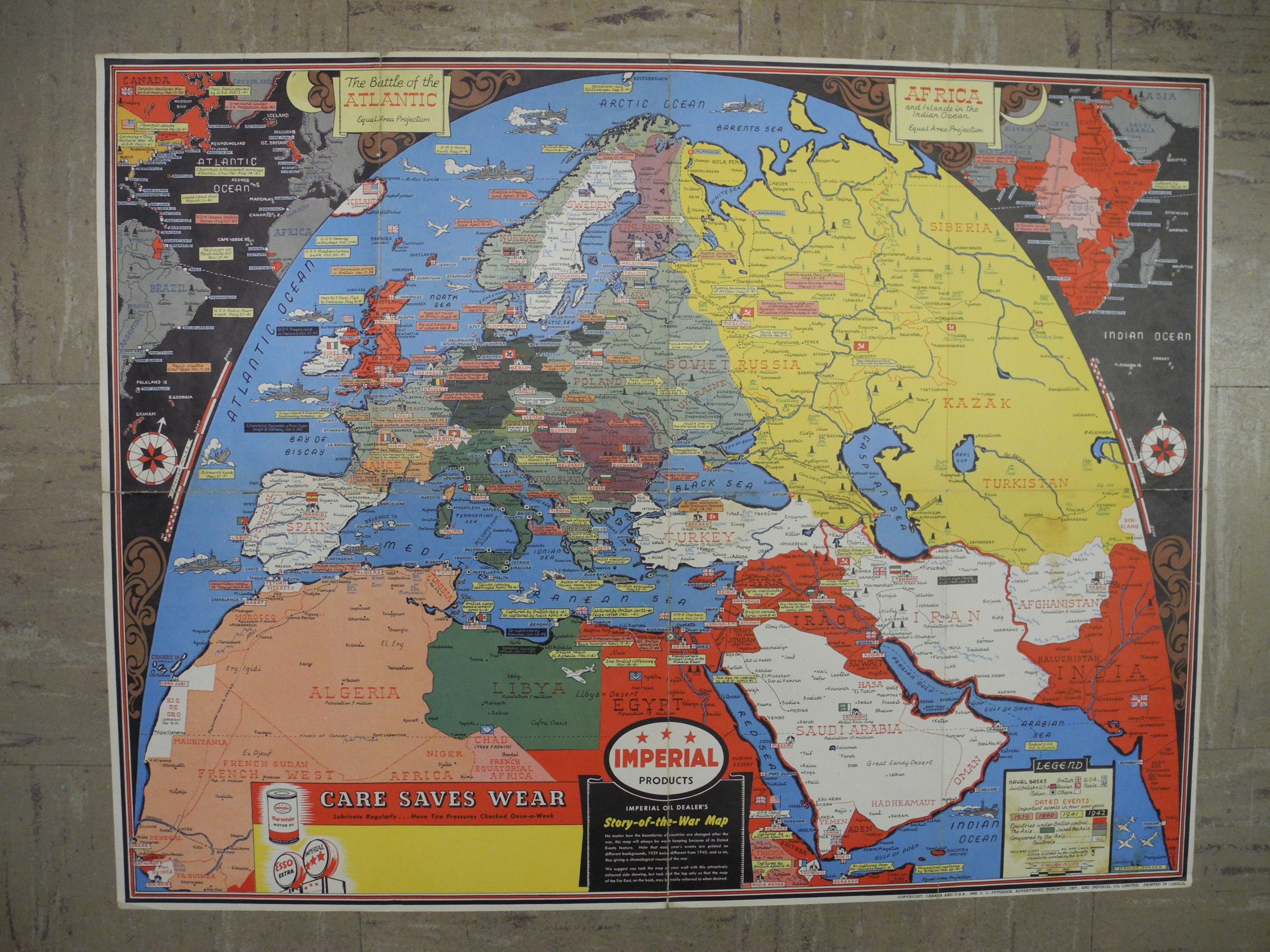 Imperial products imperial oil dealers story of the war map imperial oil dealers story of the war map imperial gumiabroncs Choice Image