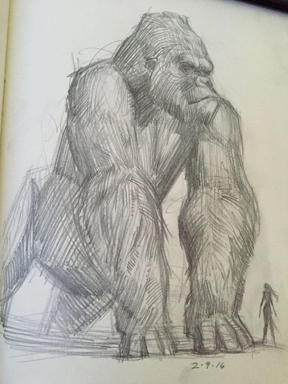 image result for king kong sketch kong pinterest