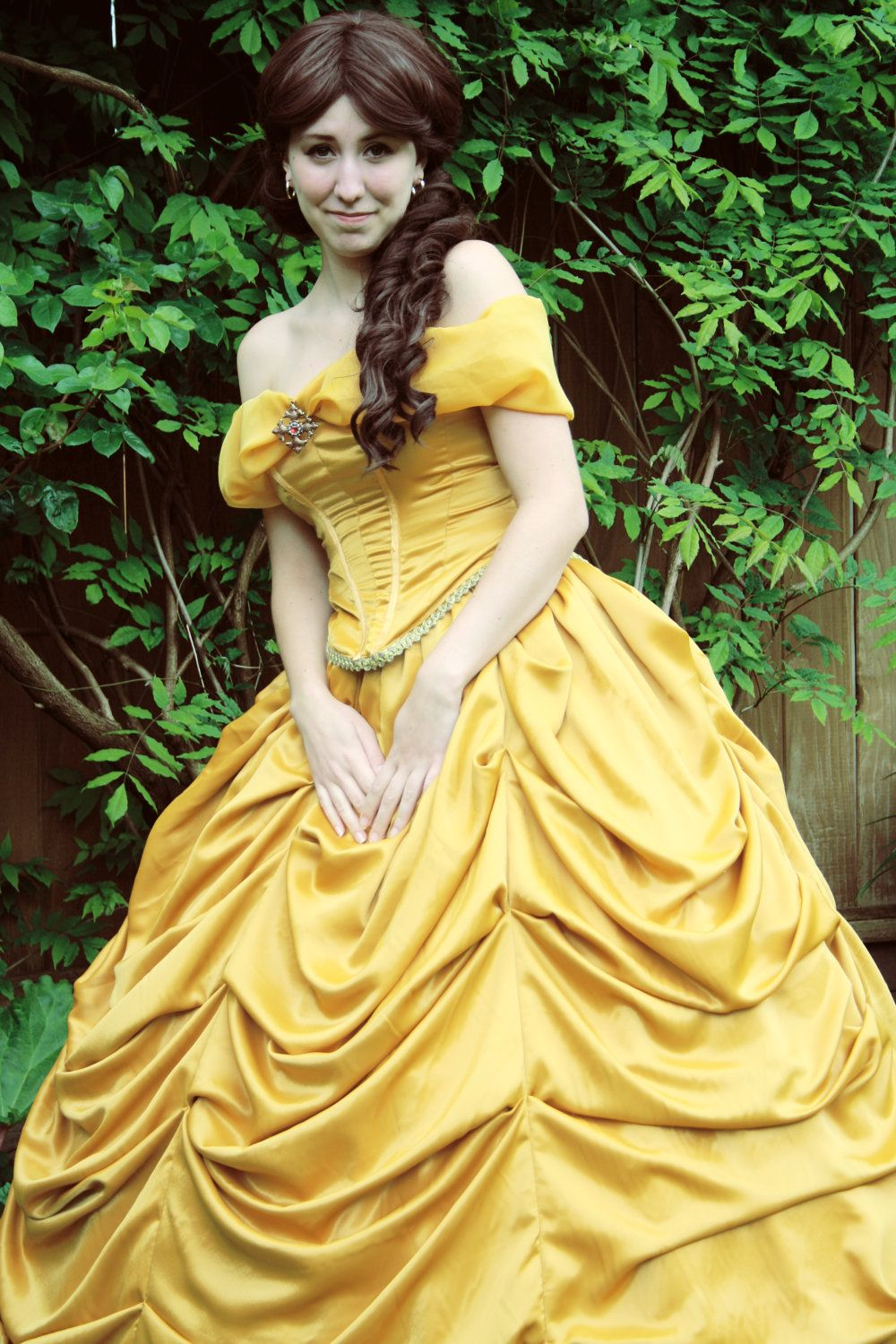 Belle of the Ball Yellow Ball Gown. $799.00, via Etsy. | Halloween ...