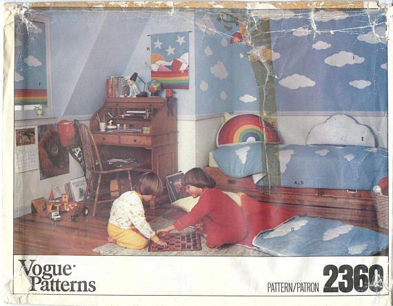 1970s Vogue 2360 UNCUT Vintage Sewing Pattern Home Decor, Rainbow ...