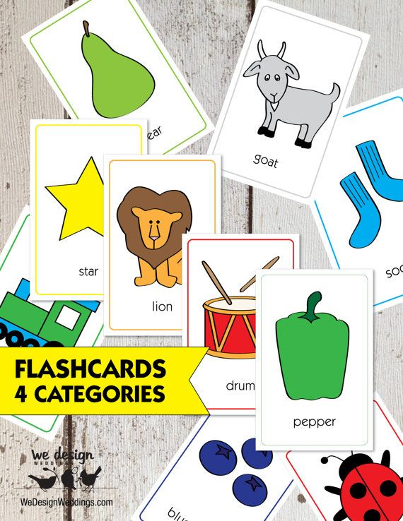 Animal Flash Cards Increase Skill Self Learning Education Fun For Kid Baby Child Toys & Hobbies Educational