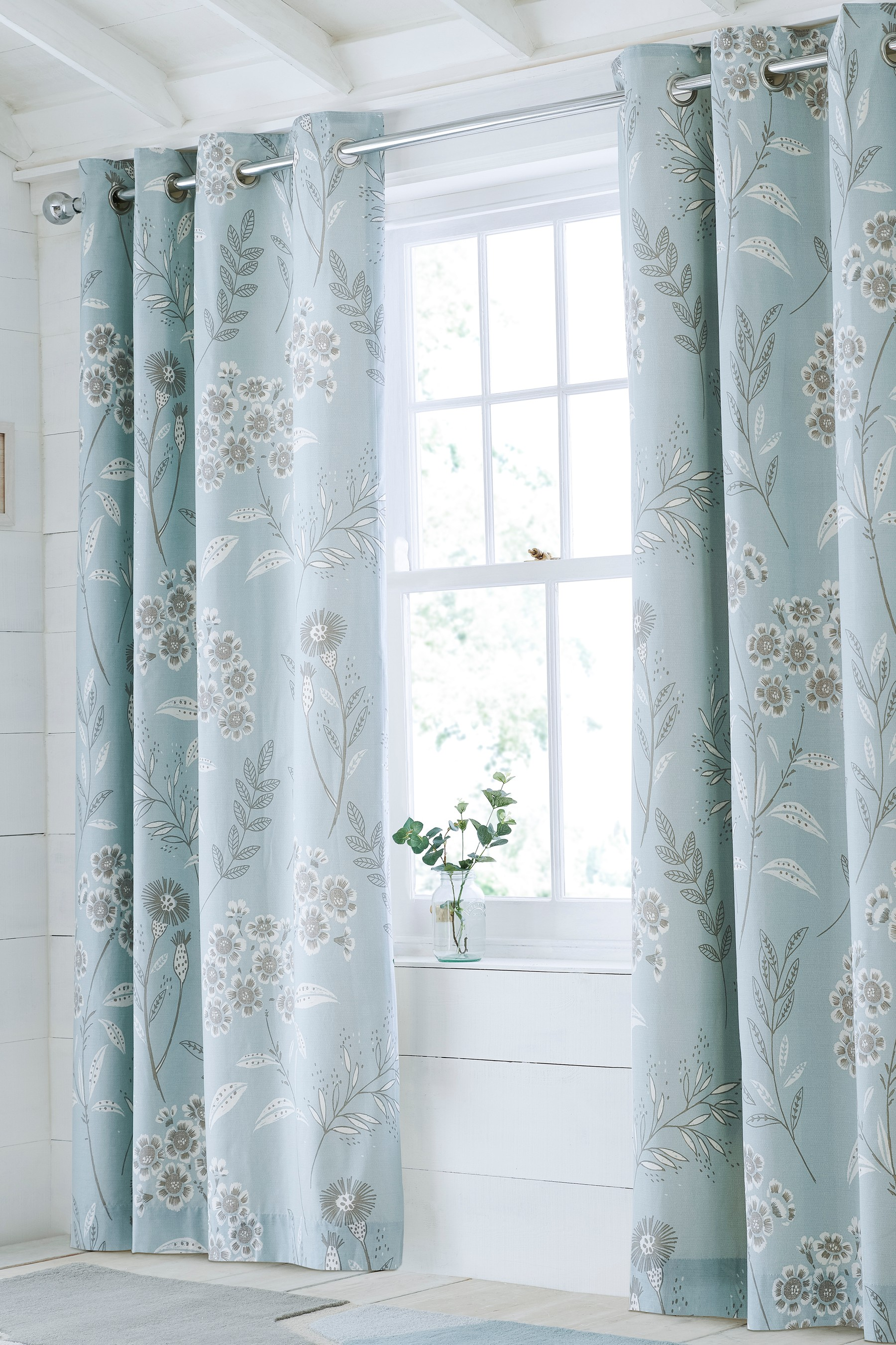 Sky Blue Blackout Eyelet Curtains Www