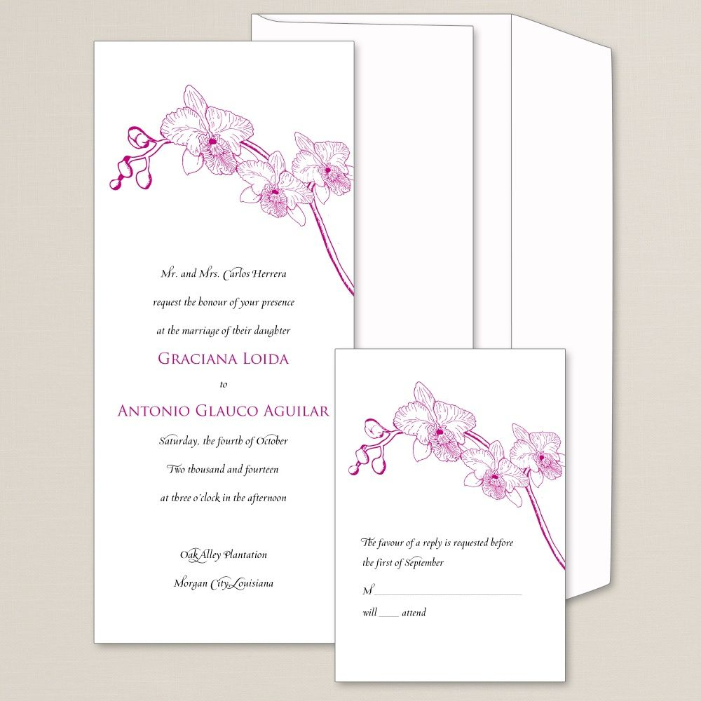 Simply Orchid Wedding Invitation | #exclusivelyweddings ...