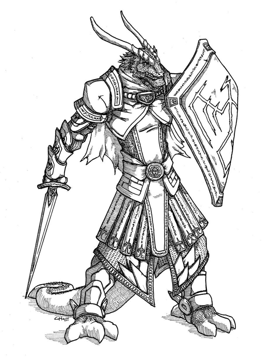 female dragonborn coloring pages - photo#13