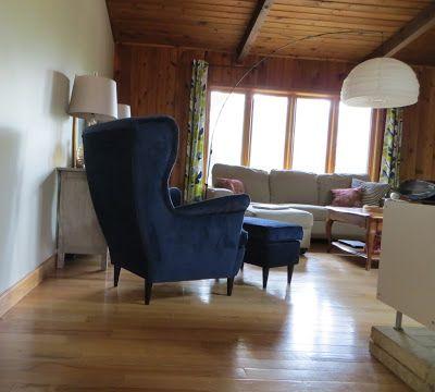 Ikea Strandmon Wingback Chair In Blue Basement Furniture Pretty Room Ikea Strandmon