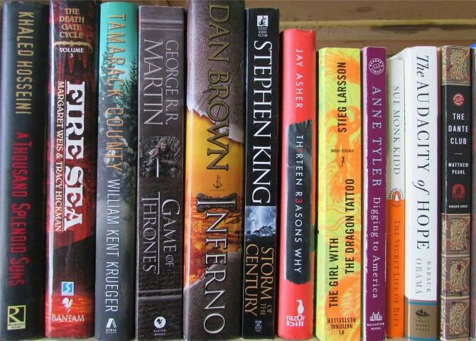 Stephen King books I love them any kind of books I love to read