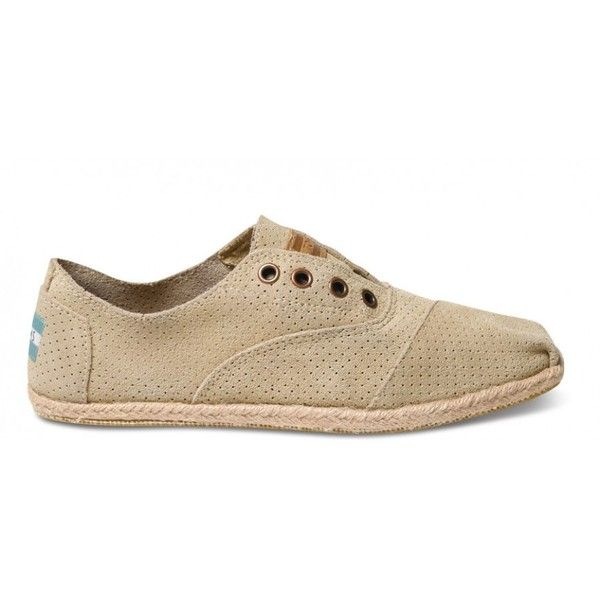 TOMS Sand Suede Women's Cordones ($79) ❤ liked on Polyvore featuring shoes, toms shoes, suede leather shoes, special occasion shoes, holiday shoes and sand suede shoes