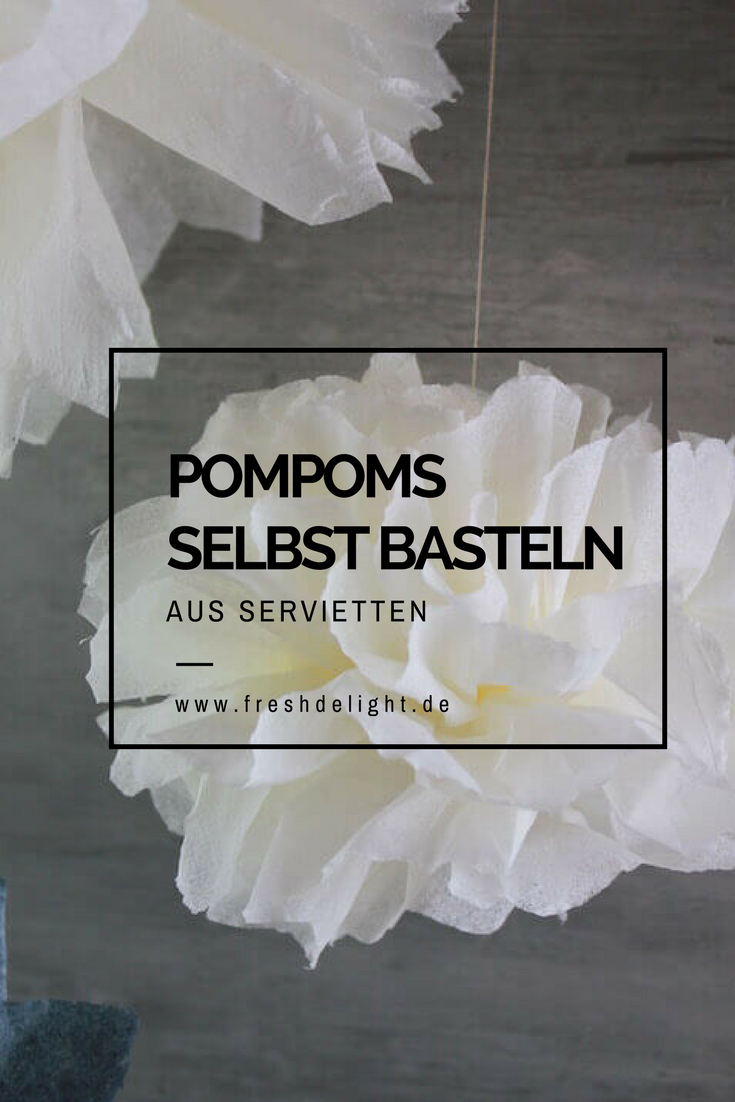 Photo of Pompom aus Servietten basteln {DIY