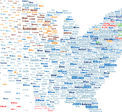 Most Common Scottish Last Names The Most Popular Surnames In America By County America Is