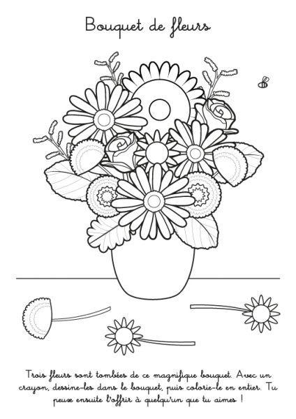 Coloriage A Imprimer Bouquet De Fleurs Coloriage Fleur A Imprimer Coloriage A Imprimer Dessin Bouquet De Fleurs