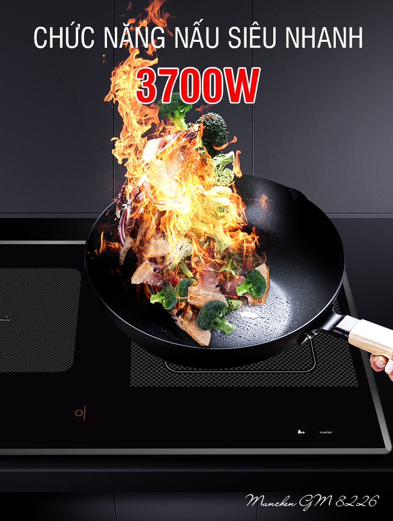 chức năng 3700w của bếp từ munchen gm8226