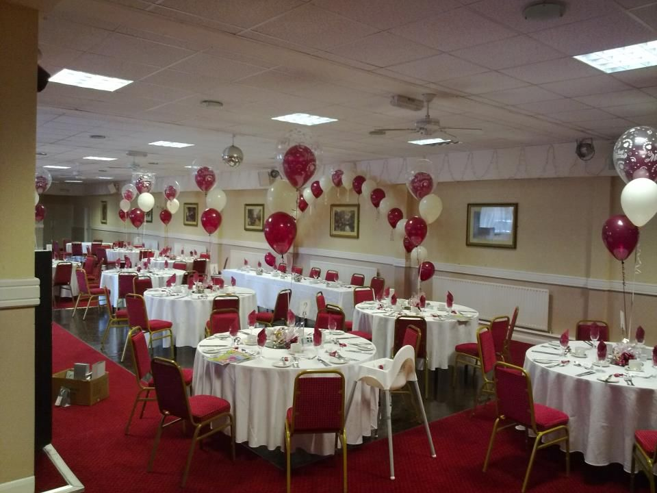 Beautiful top table arch and 3 balloon centrepieces Courtesy of
